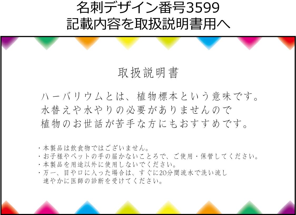 名刺デザイン3599