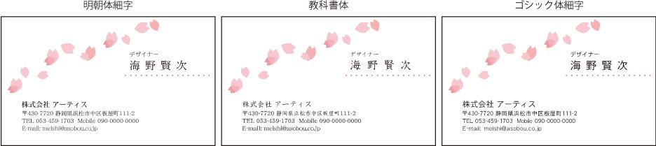 名刺デザイン番号0558