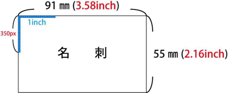 名刺の印刷に適した写真の画素数