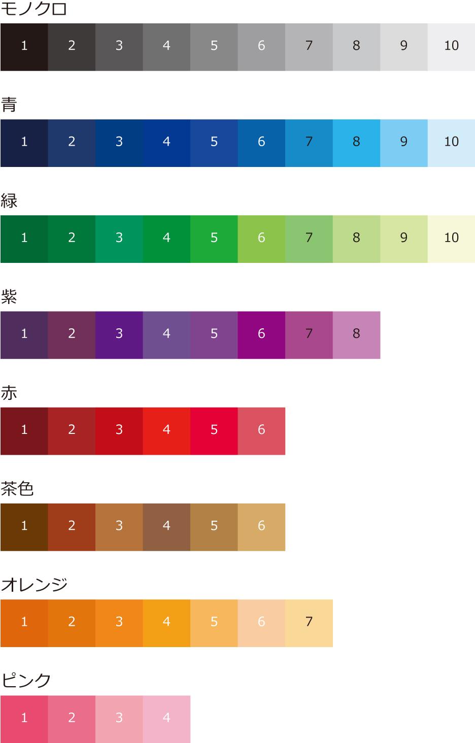 色見本(カラーチャート)